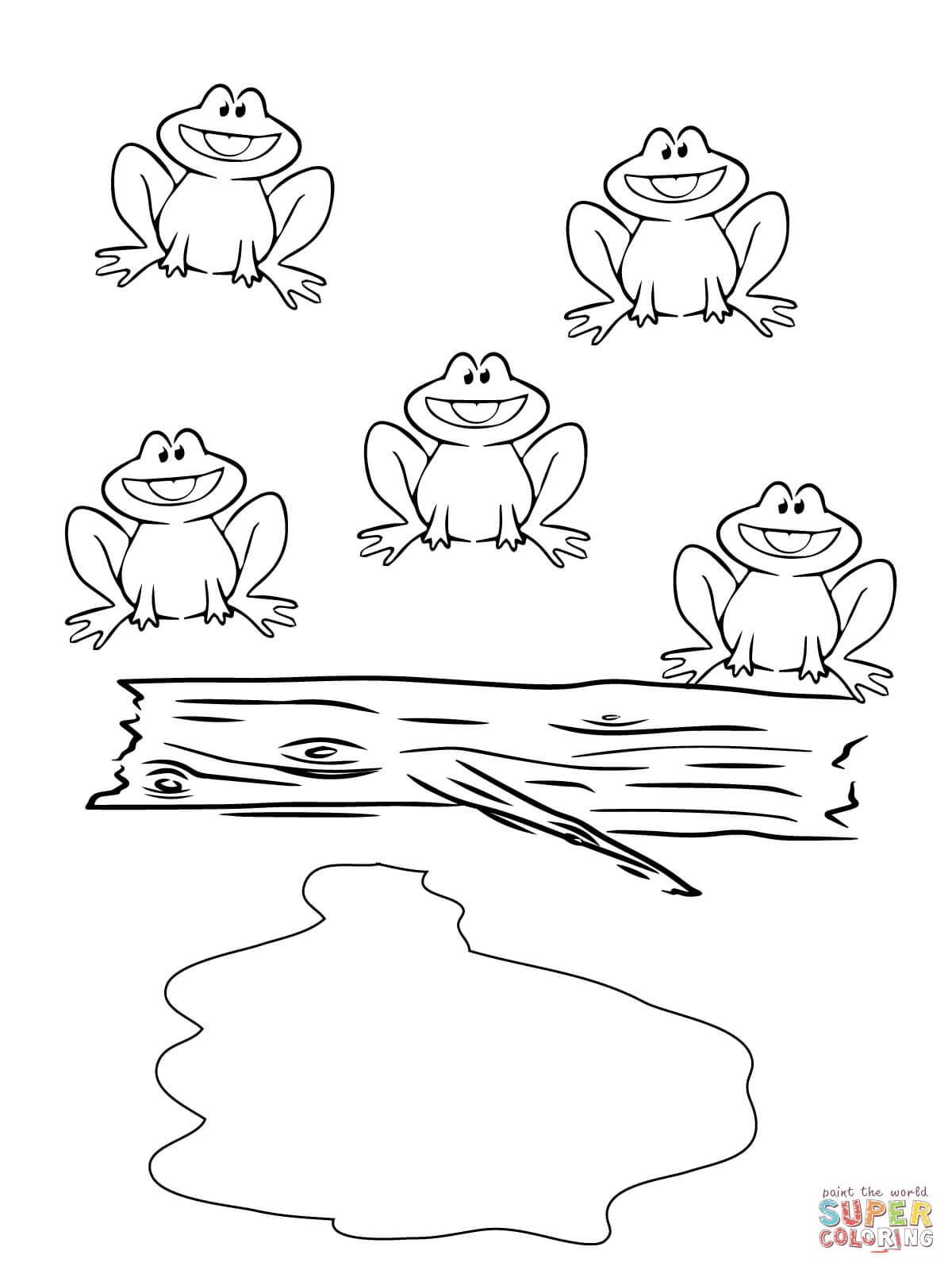 1200x1600 Printable Frog Coloring Pages Free Page Animals For Toddlers