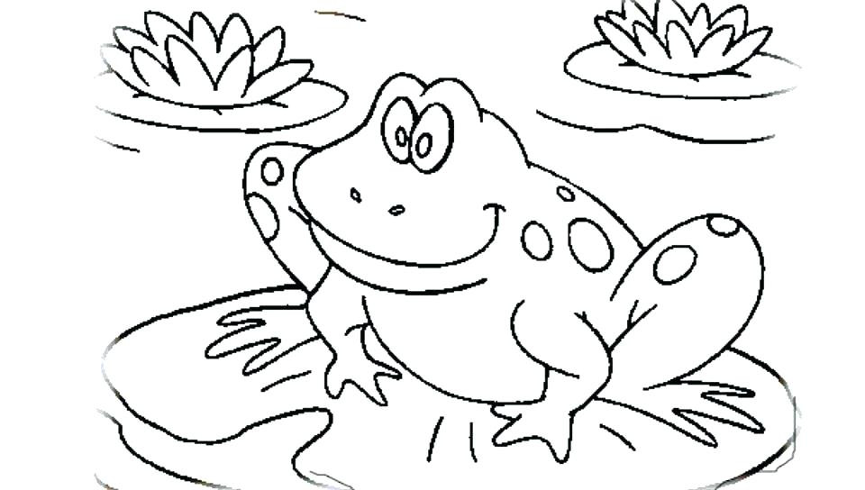 960x544 Frog Coloring Pages Page And Word Tracing Free Colouring Book