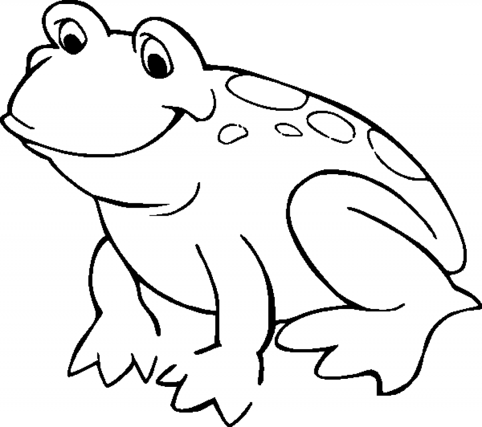 960x851 Get This Free Printable Frog Coloring Pages For Kids !