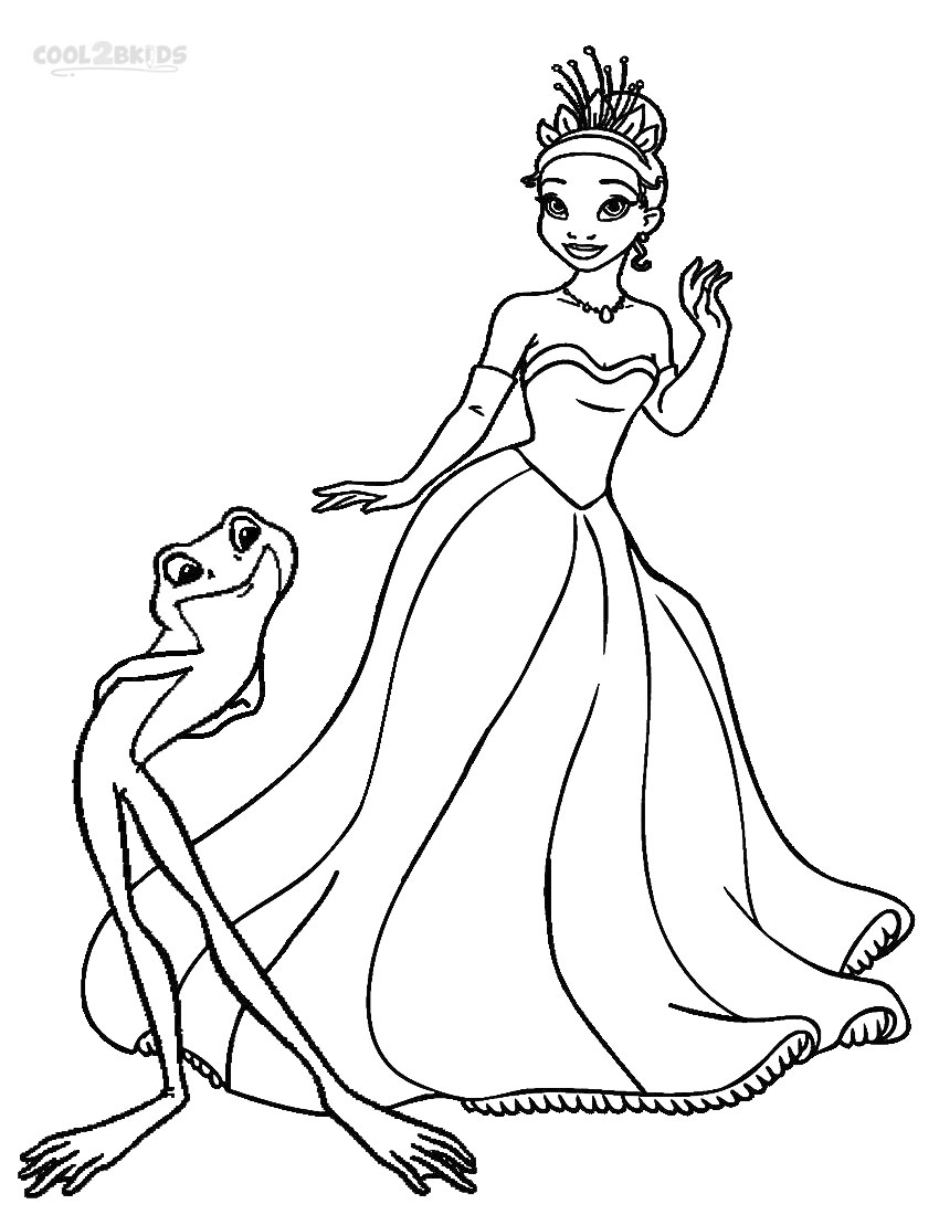 850x1100 Tiana Princess And Frog Coloring Pages