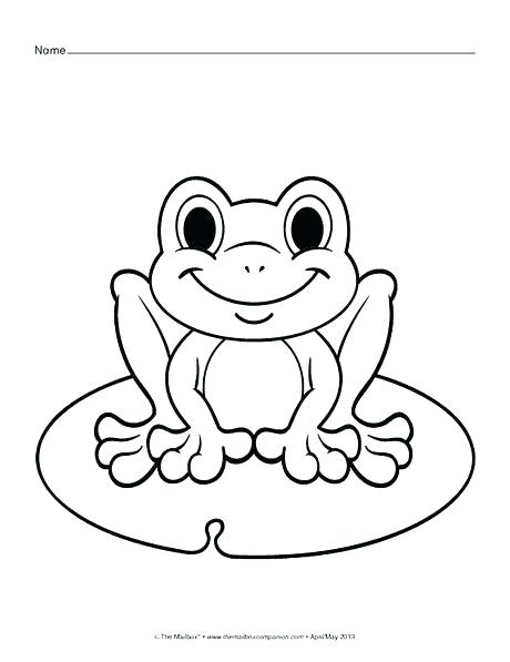 460x597 Frog Coloring Pages Free