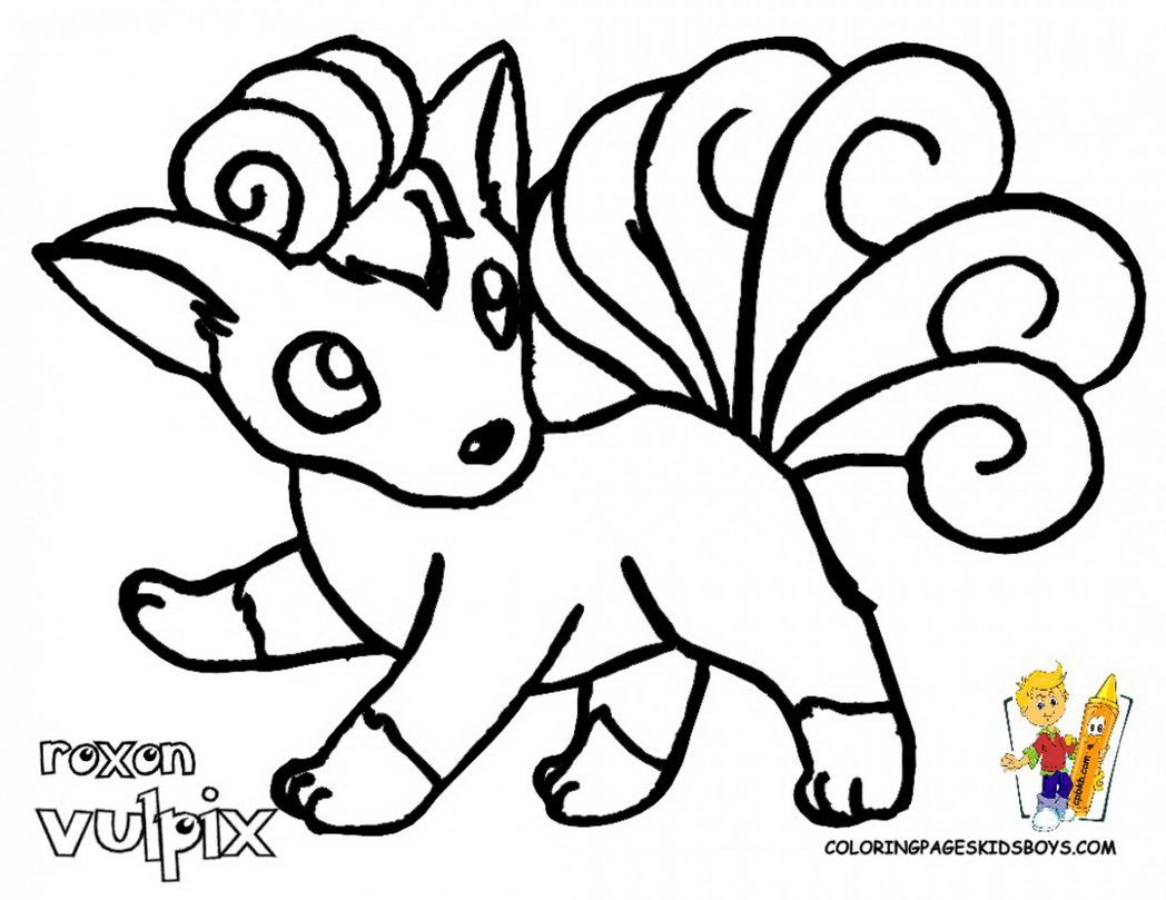 1048x809 Amazing Vulpix Coloring Page Image For Pokemon Ideas And Printable