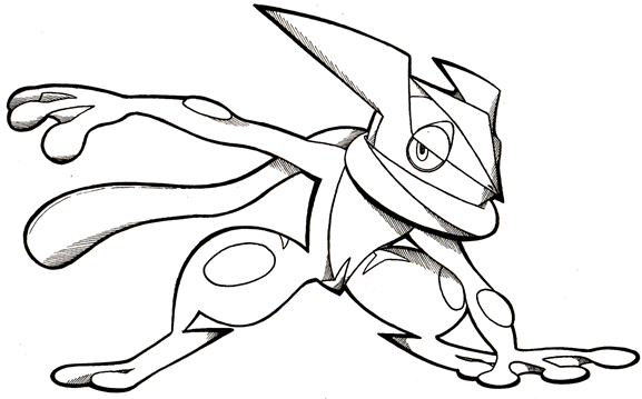 577x359 Greninja Pokemon Coloring Pages