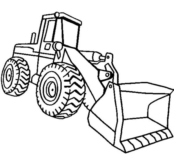600x532 Front Loader Excavator Coloring Pages