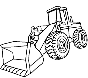 290x257 Front Loader Coloring Page Fun Ideas For Kids Clip