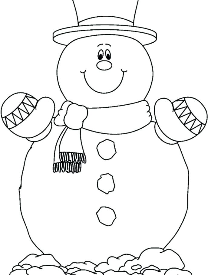 687x909 Frosty Coloring Pages Frosty Color Snowman Pictures To Color Free