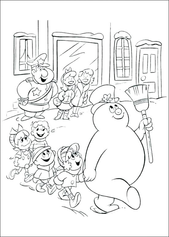 550x770 Frosty The Snowman Colouring Pages Kids Coloring Snowman Color