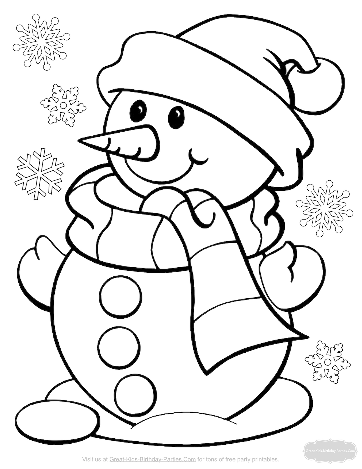 Frosty The Snowman Christmas Coloring Pages