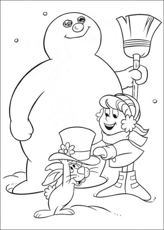 550x770 Frosty The Snowman Coloring Pages To Print Free Printable Frosty