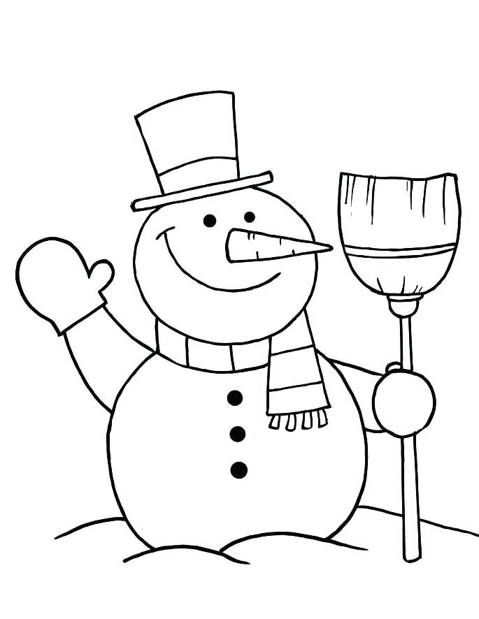 685x886 Free Printable Snowman Coloring Pages Colouring Pages Of Snowman