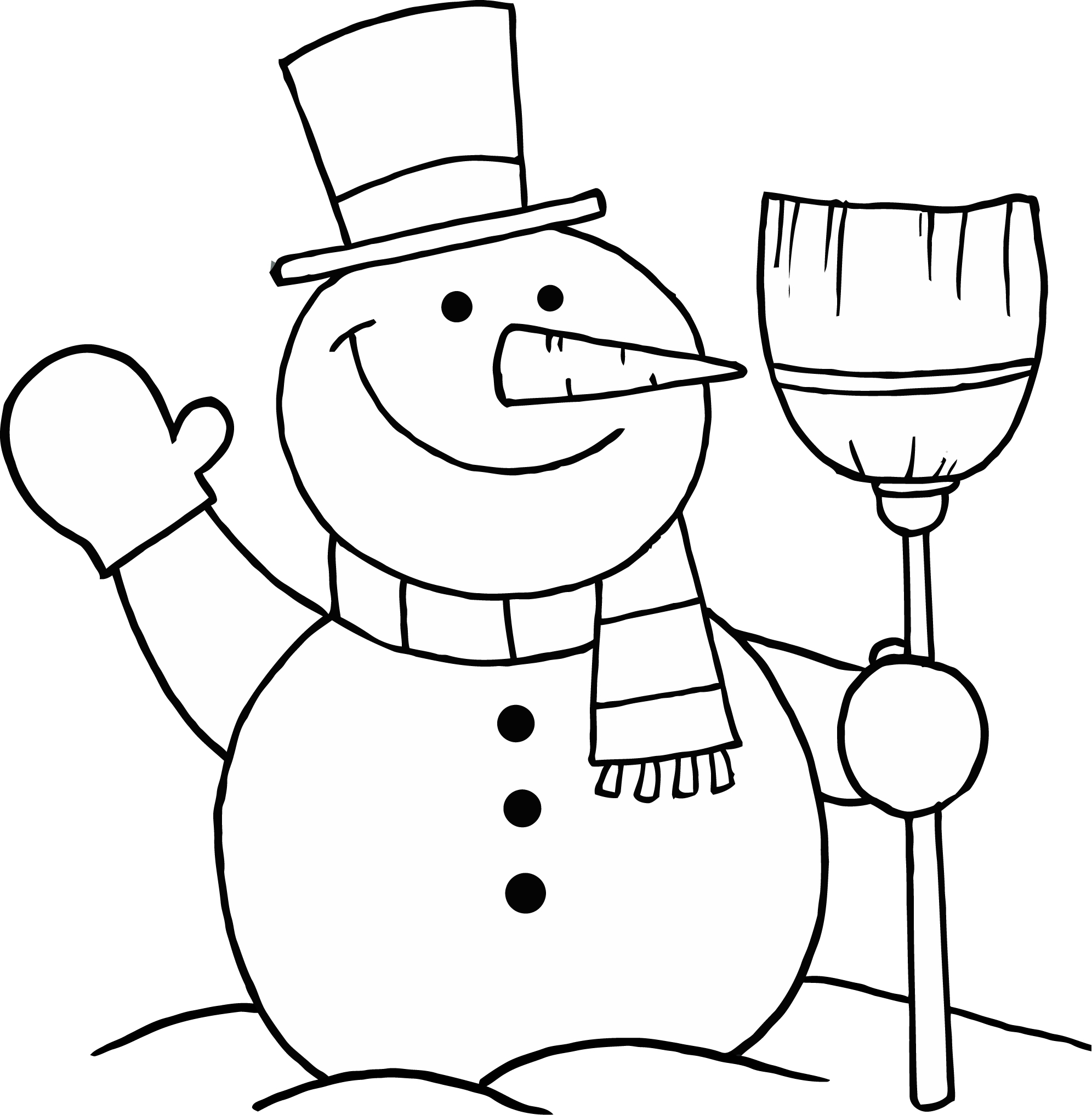 1992x2034 Frosty Snowman Coloring Page Free Printable Pages For Kids Adults
