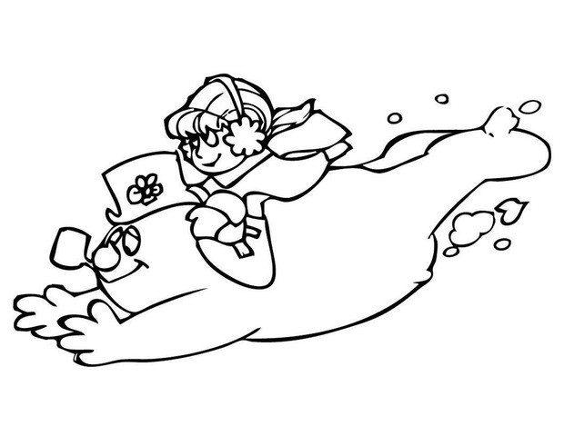 620x480 Frosty The Snowman Coloring Pages For Christmas