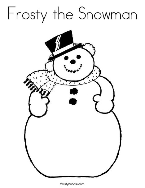 468x605 Frosty The Snowman Coloring Page