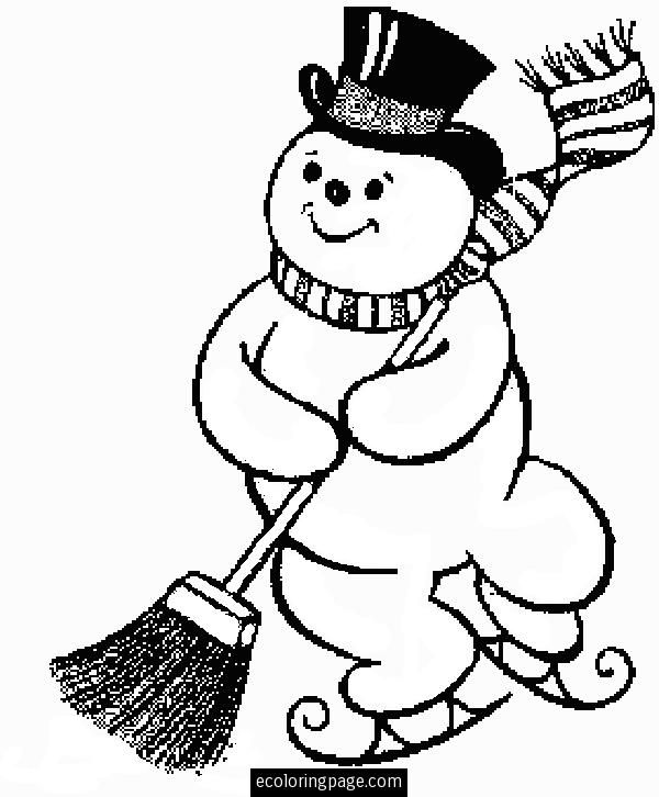 600x726 Frosty The Snowman Coloring Pages Ice Skating Frosty The Snowman