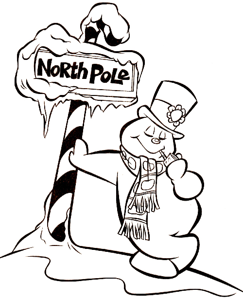 500x620 Frosty The Snowman Coloring Pages
