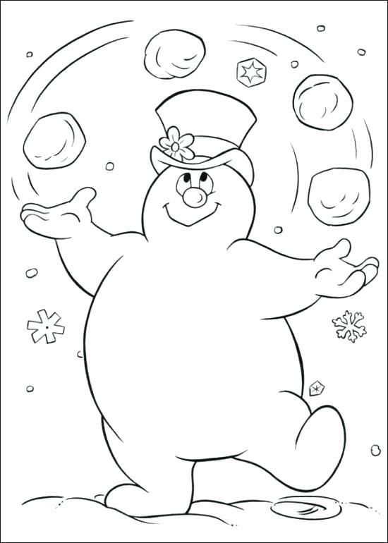 550x770 Snowman Coloring Page Frosty The Snowman Coloring Pages Printable