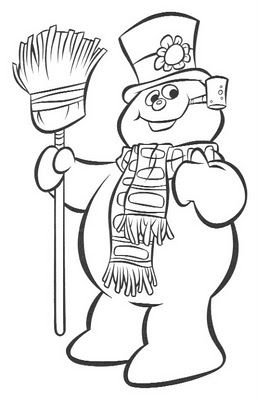 258x400 Snowman Coloring Pages For Kids