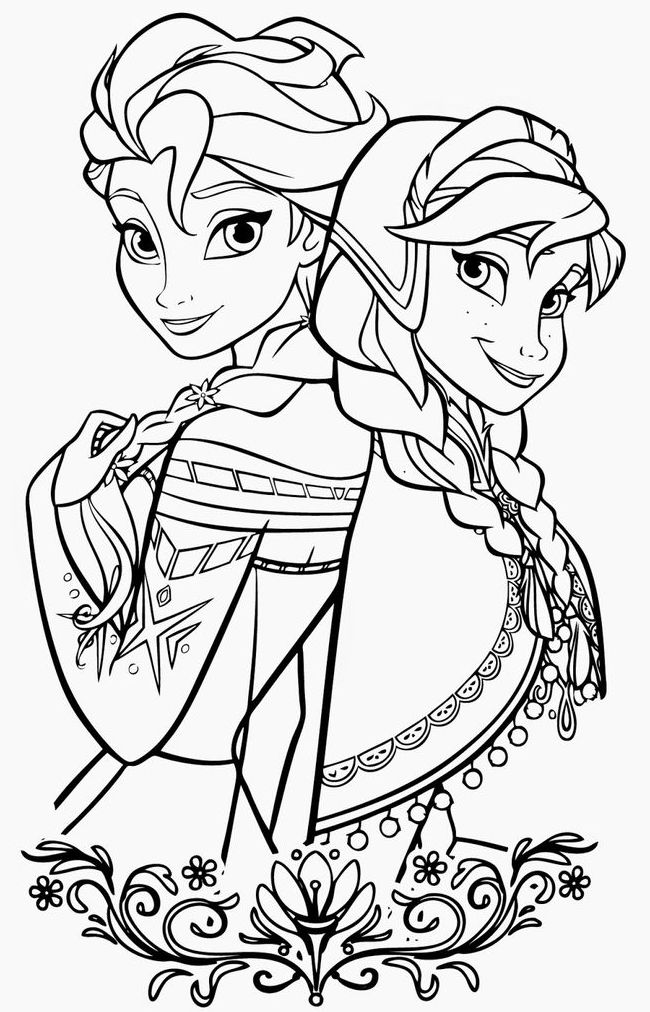 650x1012 Disney Coloring Pages Frozen Colorings' World