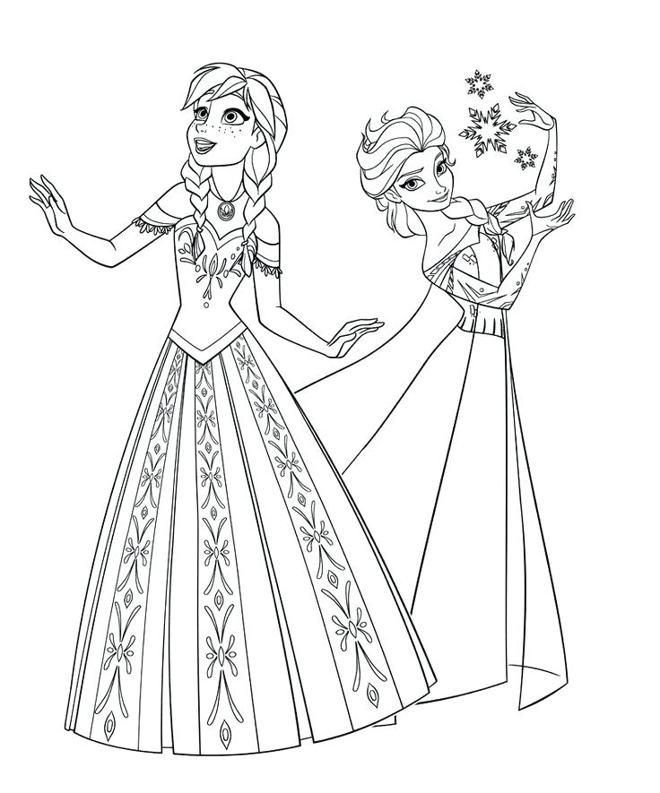 736x885 Free Printable Frozen Elsa Coloring Pages Picture Colouring