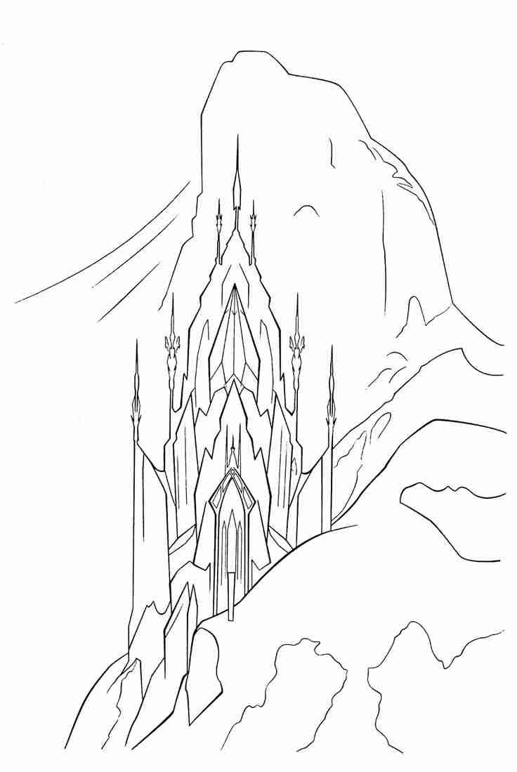 736x1099 Elsa Castle Coloring Page Google Search Art Projects Exceptional