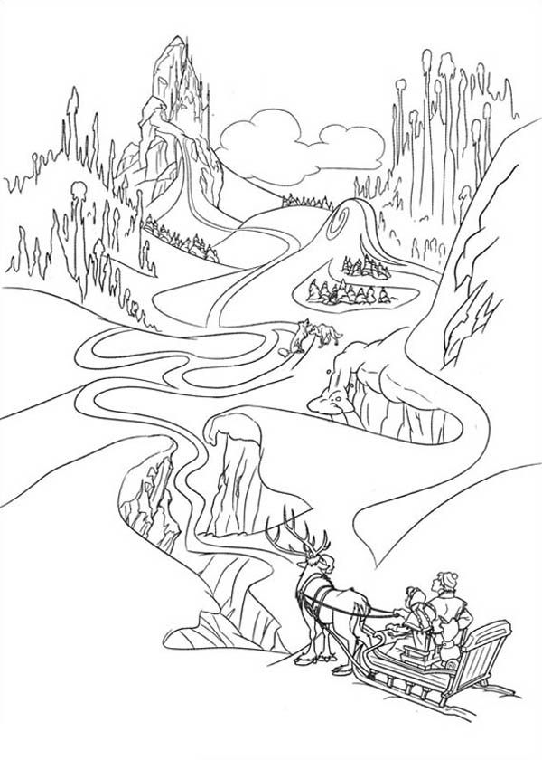 600x840 Anna In The Way Of Finding Elsa Coloring Page Coloring Pagefrozen