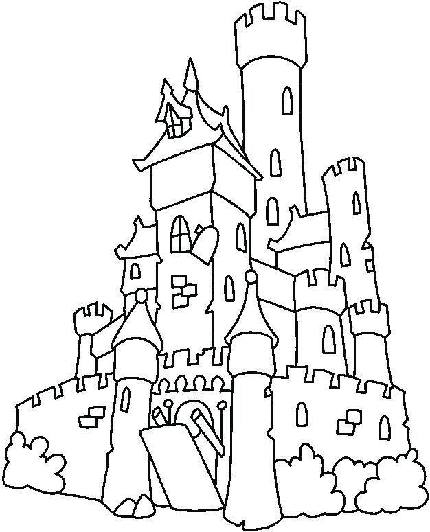 626x775 Castle Coloring Pages Castle Coloring Pages Printable For Kids