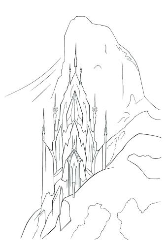 335x500 Castle Coloring Pages Coloring Pages Castle Coloring Page Frozen