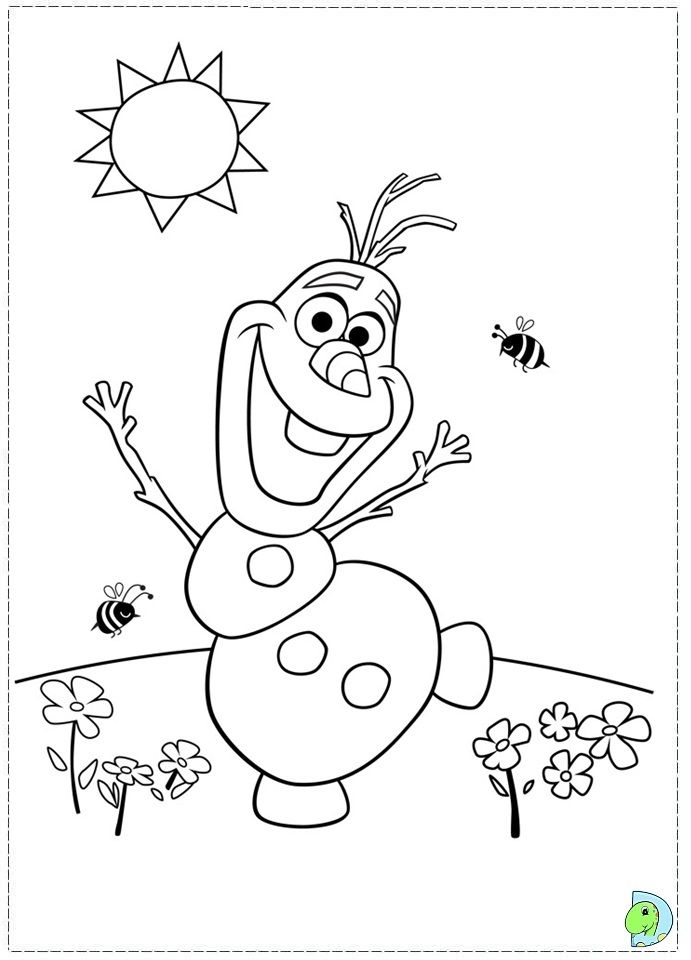 691x960 Frozen Character Coloring Pages Olaf Baking