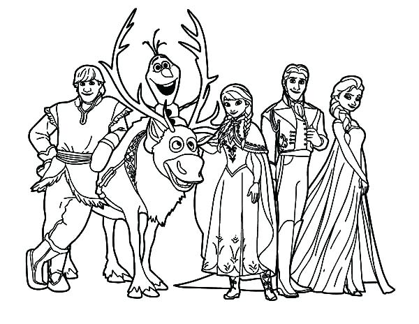 600x464 Coloring Frozen Frozen Characters Coloring Pages Printable Disney