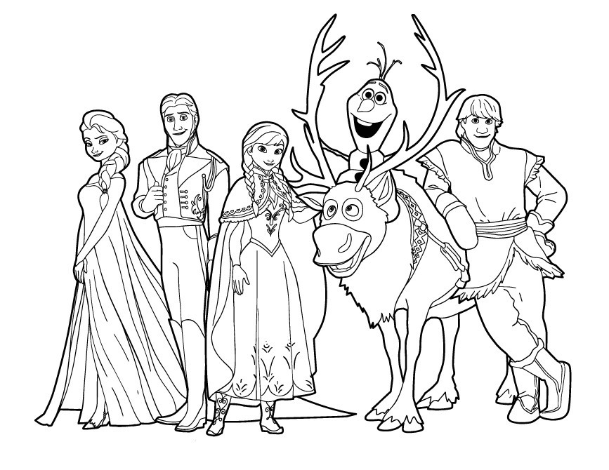 Frozen Coloring Pages Anna And Kristoff At Getdrawingscom Free
