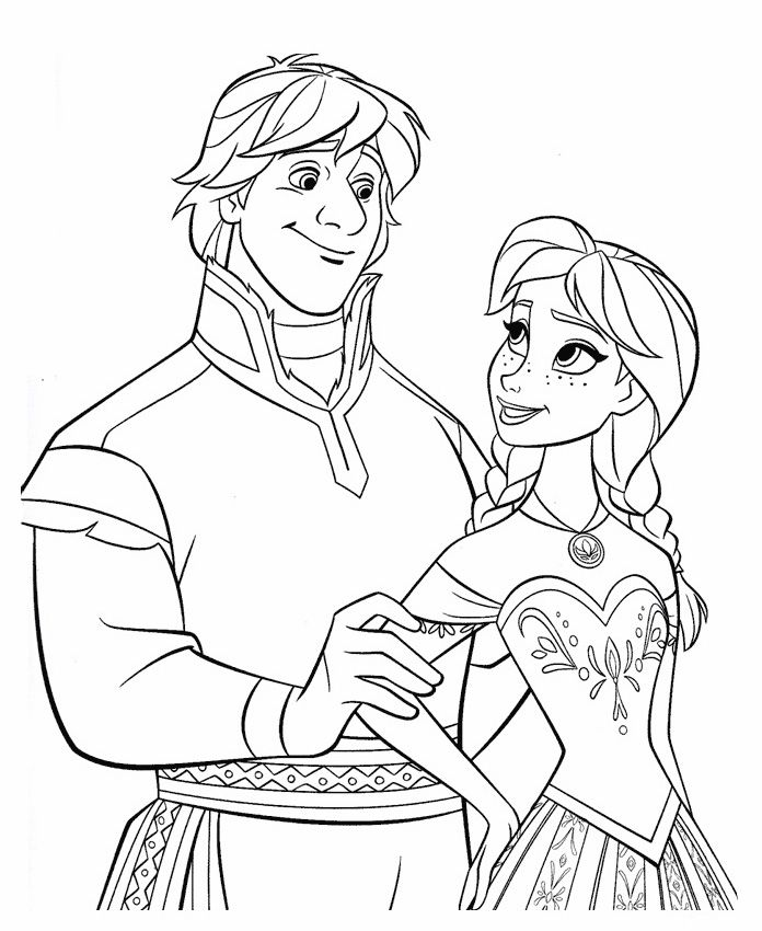 696x850 Frozen Coloring Pages Anna And Kristoff Disney For Coloring