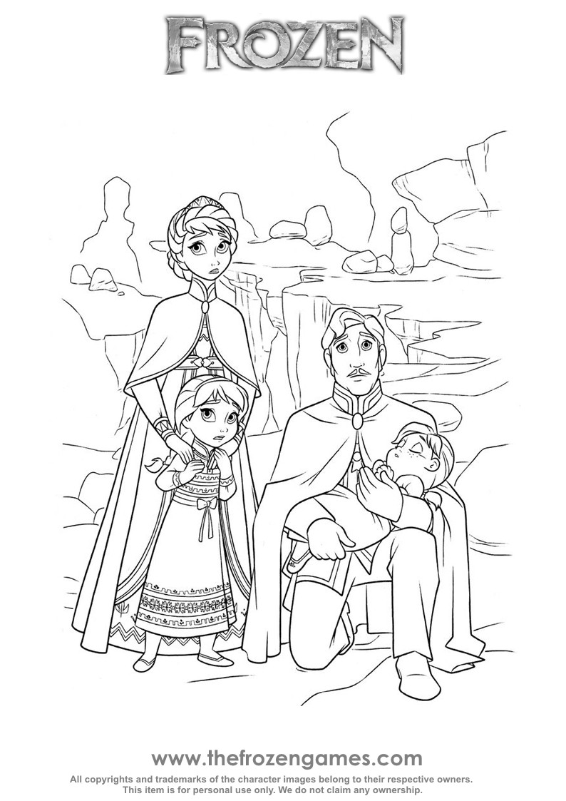 794x1123 Frozen Coloring Pages The Royal Family Games Online Adorable Anna