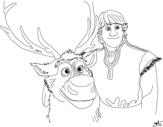 523x406 Kristoff Frozen Coloring Pages Simple