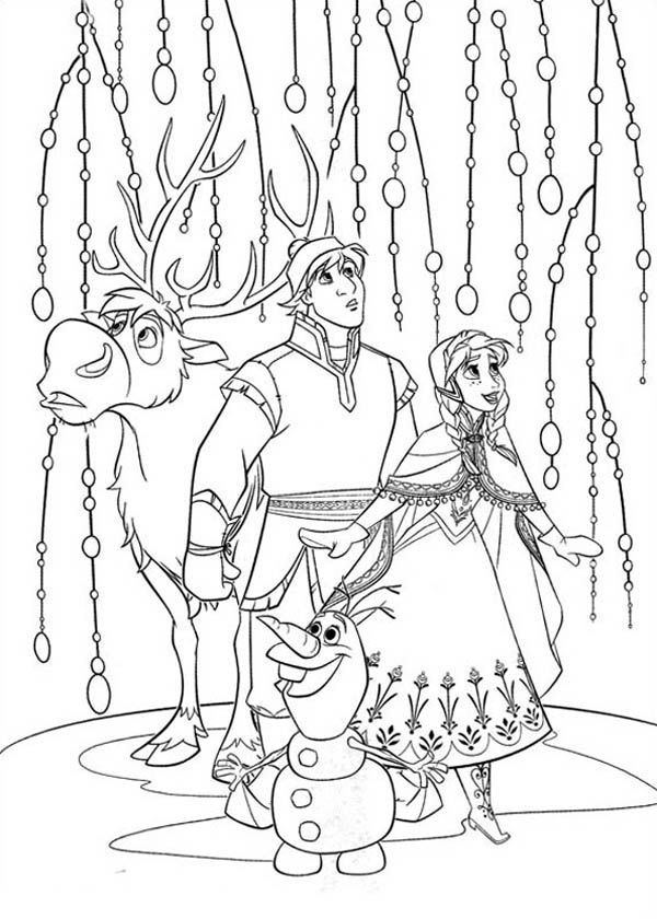 600x840 Sven Coloring Pages Sven And Olaf Look Something Amazing