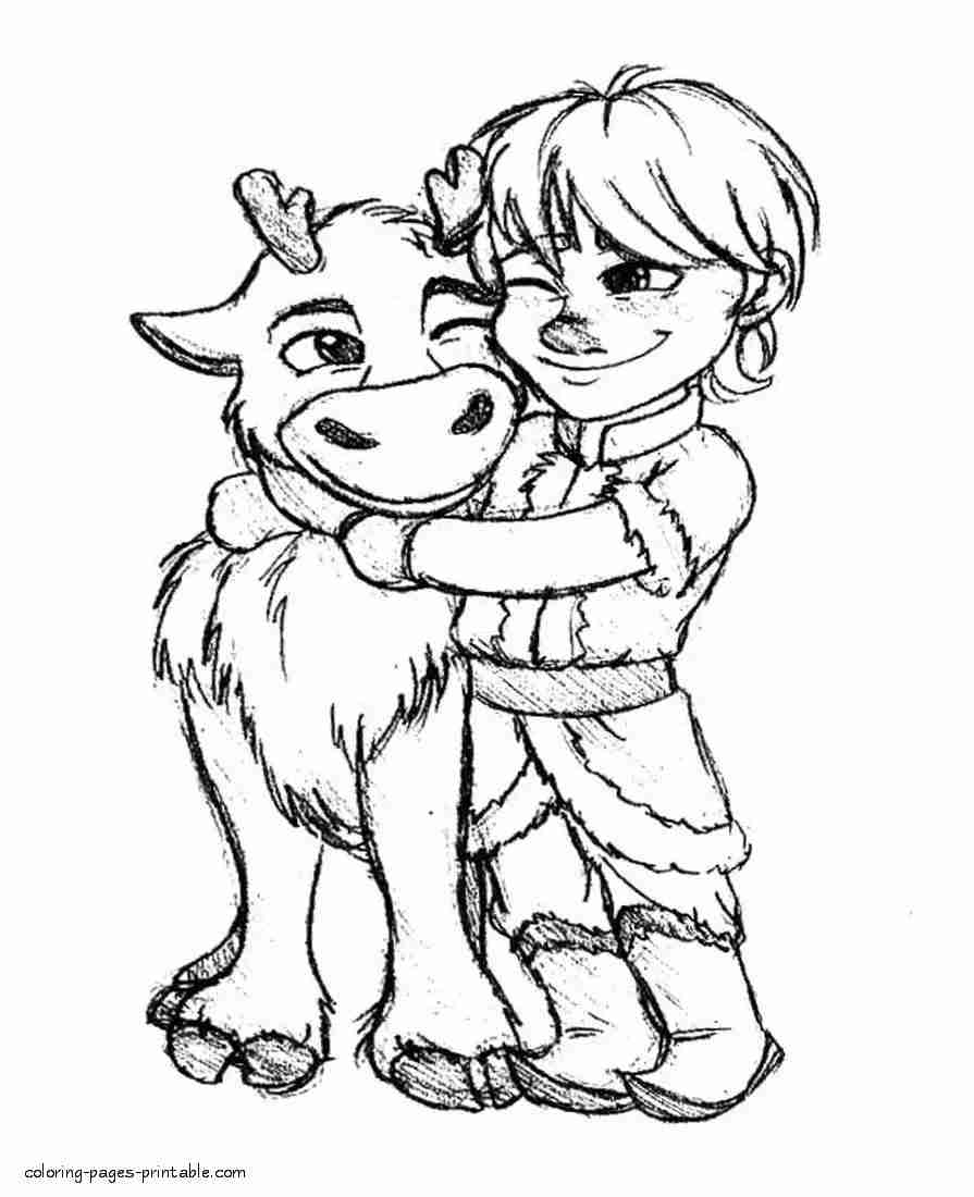frozen coloring pages anna and kristoff at getdrawings
