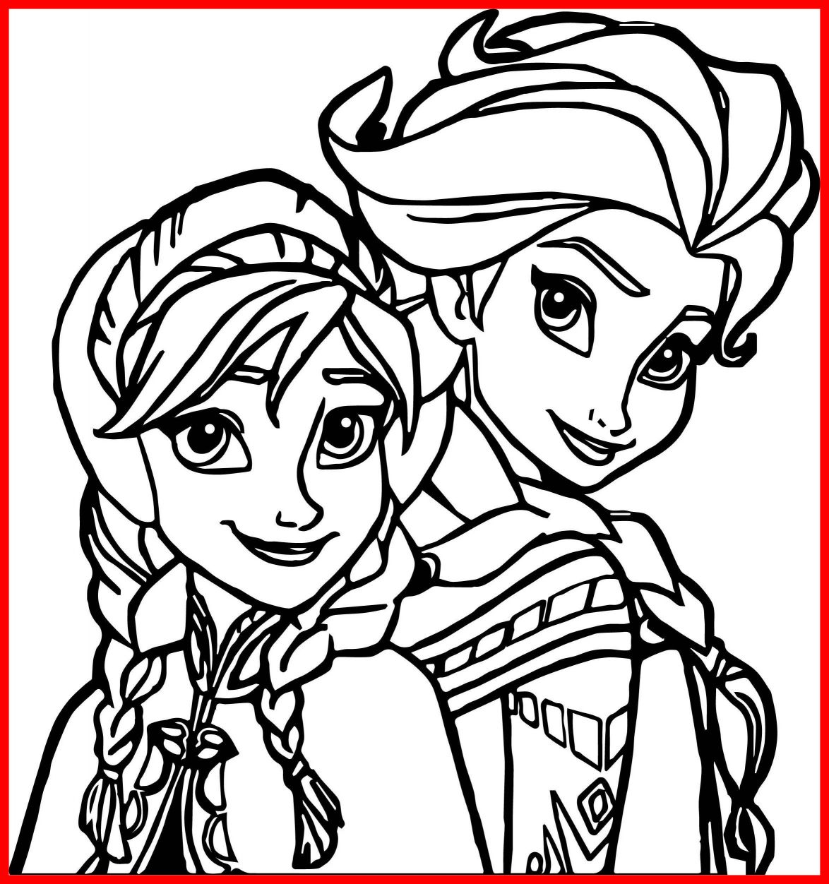 Frozen Coloring Pages Elsa Face