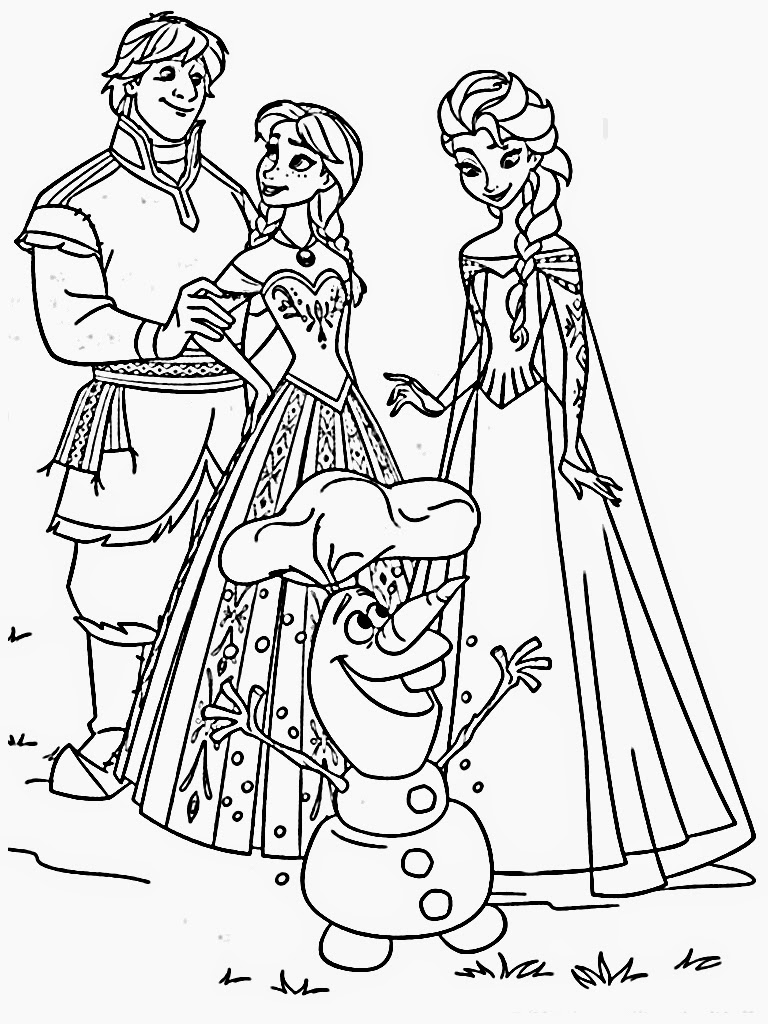 768x1024 Downloads Frozen Coloring Pages Images