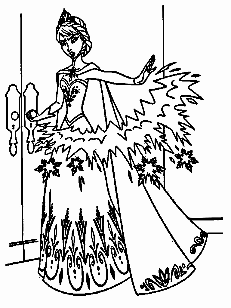 768x1024 Elsa's Ice Castle Coloring Pages Gallery Frozen Coloring Pages