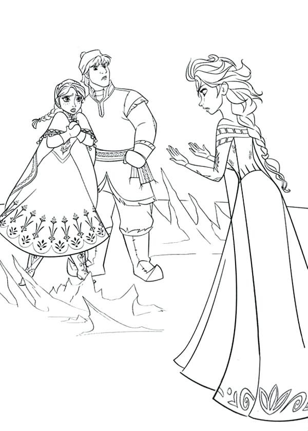 600x840 Elsa From Frozen Coloring Pages Free Frozen Coloring Pages Elsa