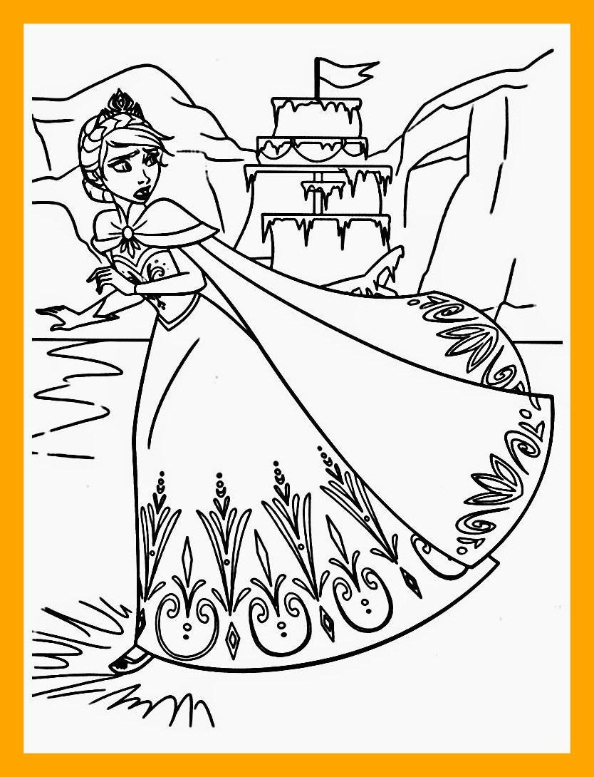 834x1090 Astonishing Frozen Coloring Pages Elsa Ice Castle Pict