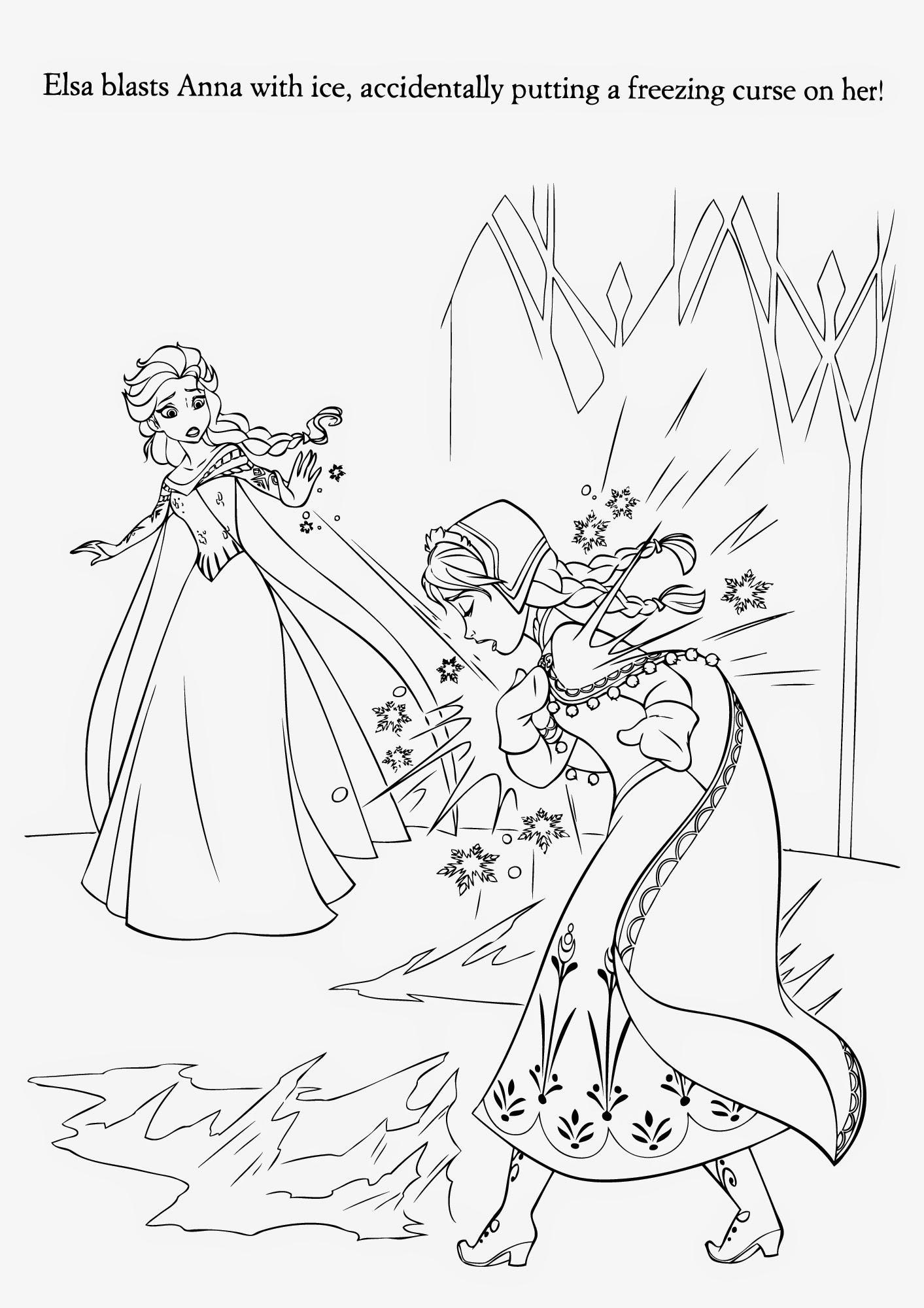 1413x2000 Frozen Coloring Pages Elsa Ice Castle Page Fun Unbelievable