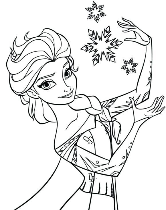 580x731 Frozen Coloring Pages Elsa Ice Castle Snowflake Coloring Page
