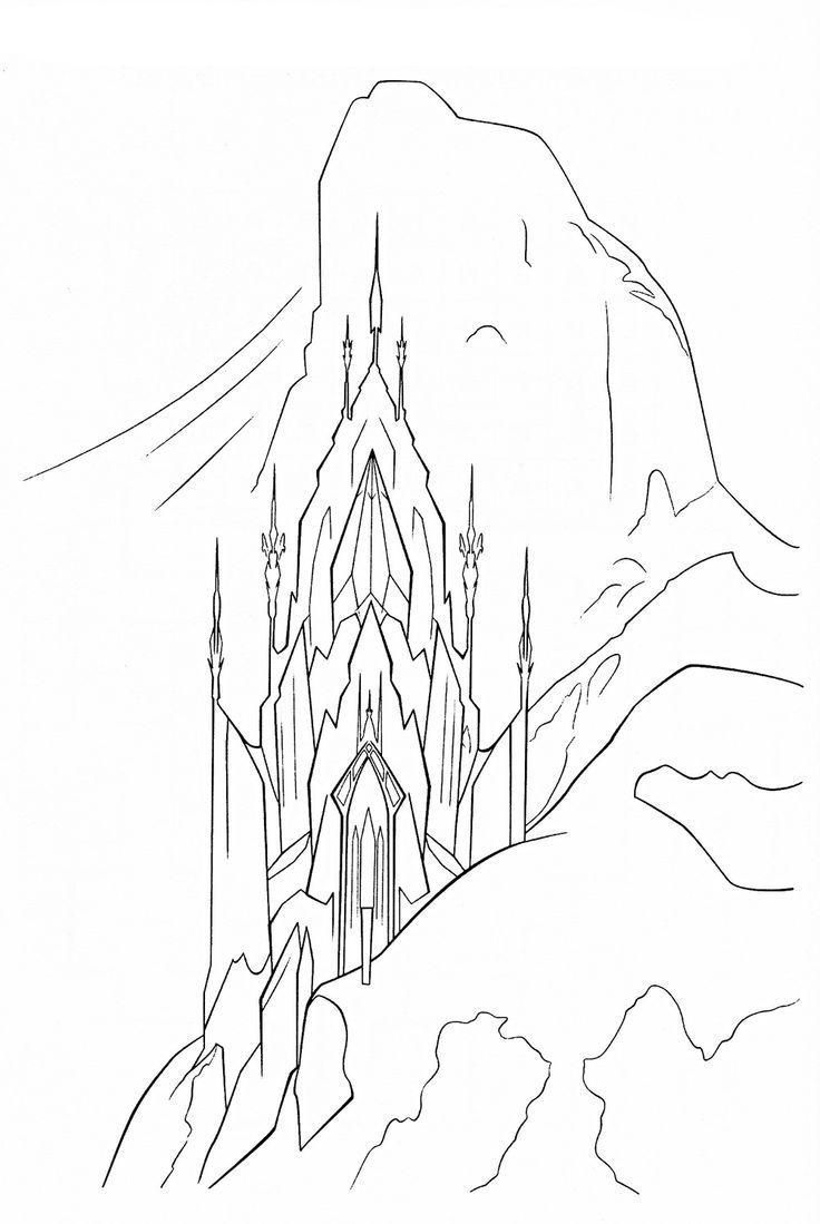 736x1099 Frozen Coloring Pages Ice Castle Coloring Page Fun