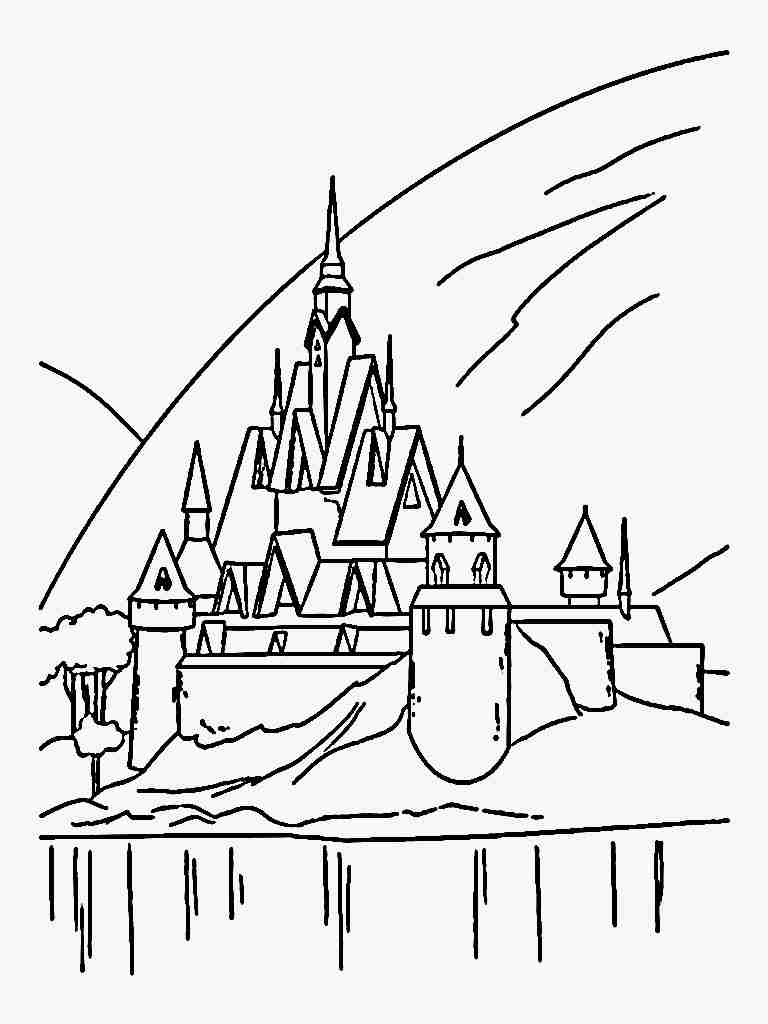 768x1024 Frozen Coloring Pages Ice Castle Taken From The Movie Lovely