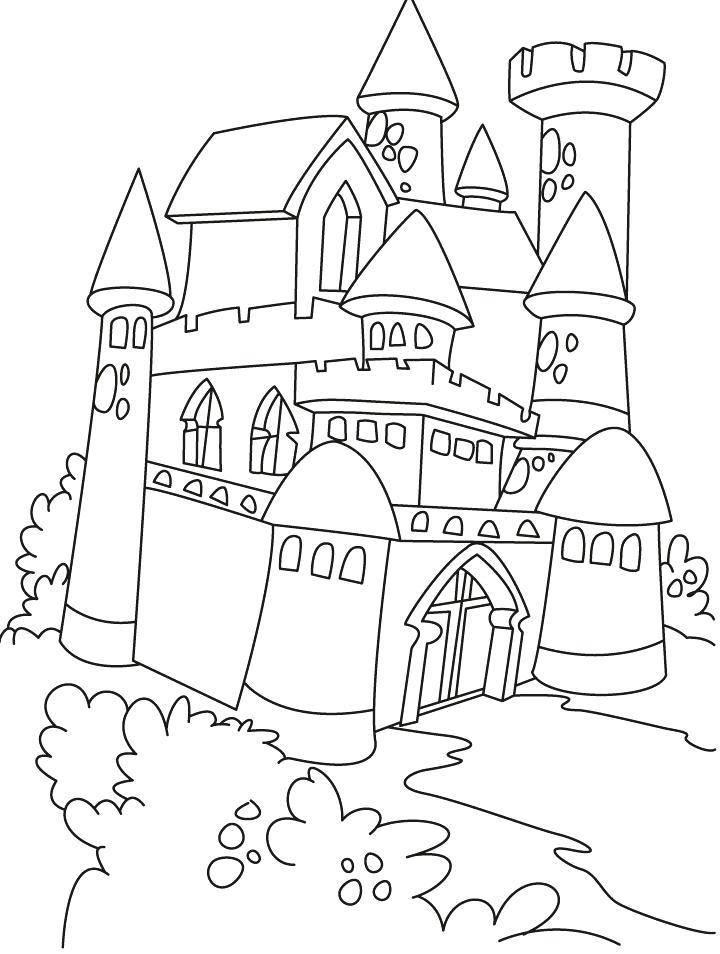 720x954 Coloring Page Castle Castle And Princess Coloring Pages Frozen