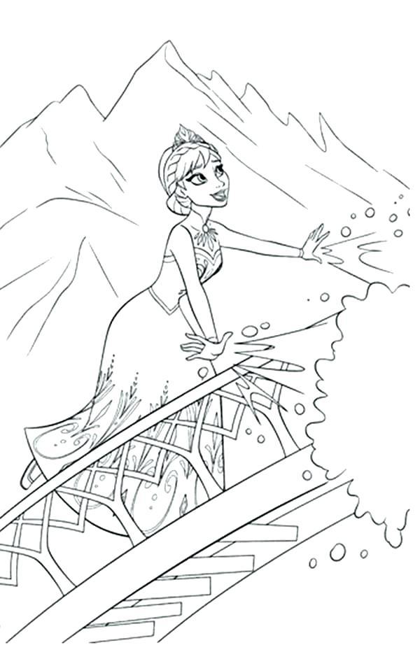 600x922 Coloring Pages Frozen Elsa Frozen Ice Castle Coloring Page