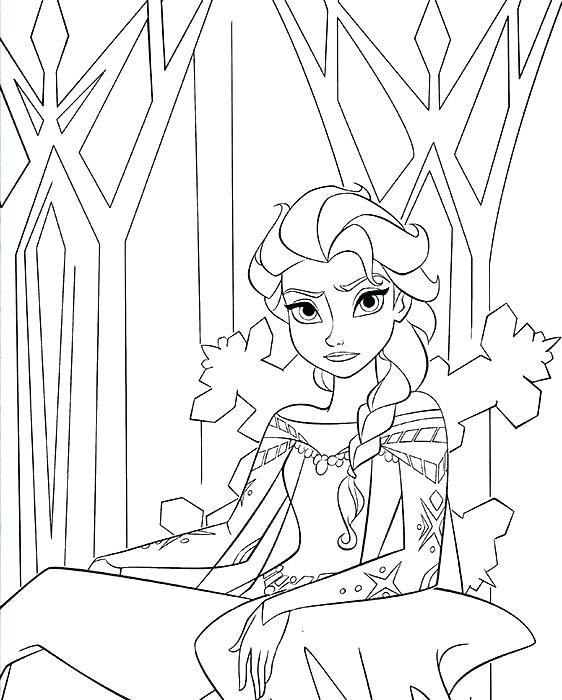 562x700 Elsa Coloring Pages Coloring Pages Some Of My Favorite Frozen