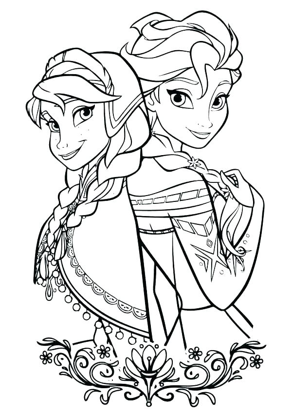 Frozen Coloring Pages To Print At Getdrawings Com Free For