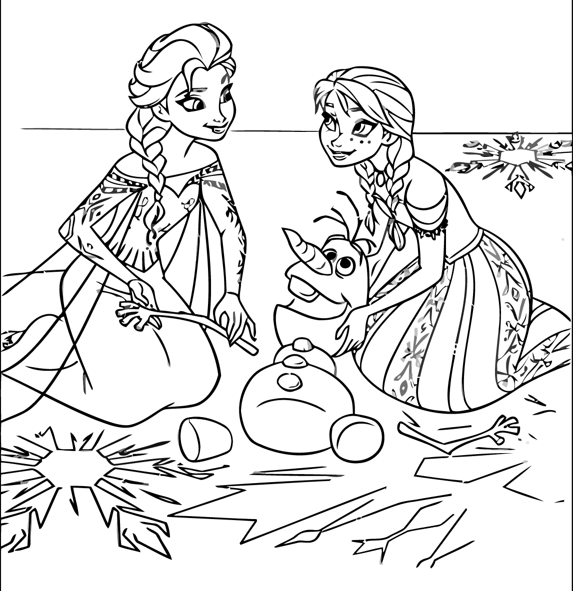 1146x1183 disney frozen coloring pages to print