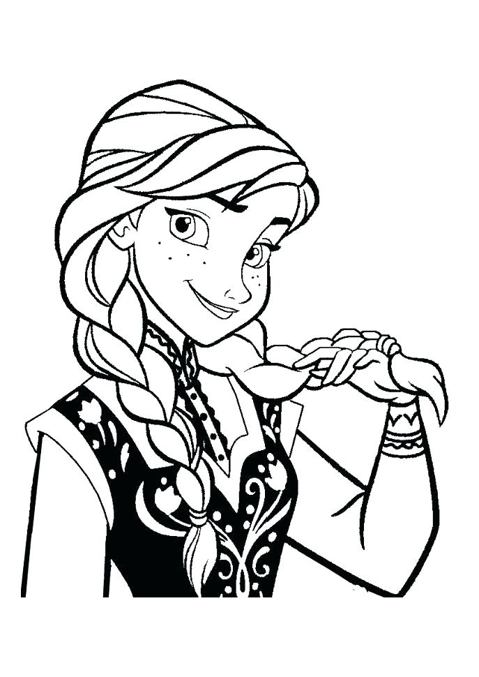 687x970 Frozen Elsa And Anna Coloring Pages And Coloring Pages Medium Size